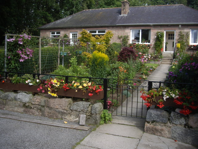 A front garden in Inchley Place