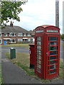 SK6049 : K6 kiosk and Collyer Road, Calverton postbox ref. NG14 105  by Alan Murray-Rust