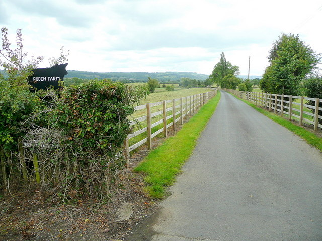 Farm road to Poden