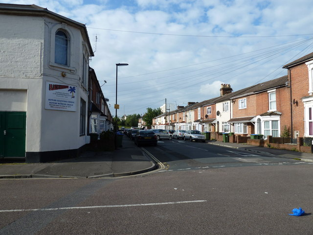 Looking from St Albans Road into Northumberland Road