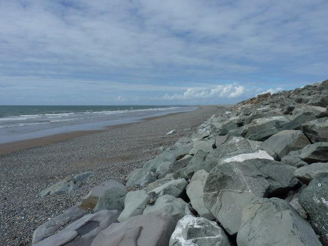 Sand, shingle and boulders