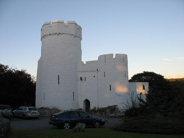Benton Castle at sunset