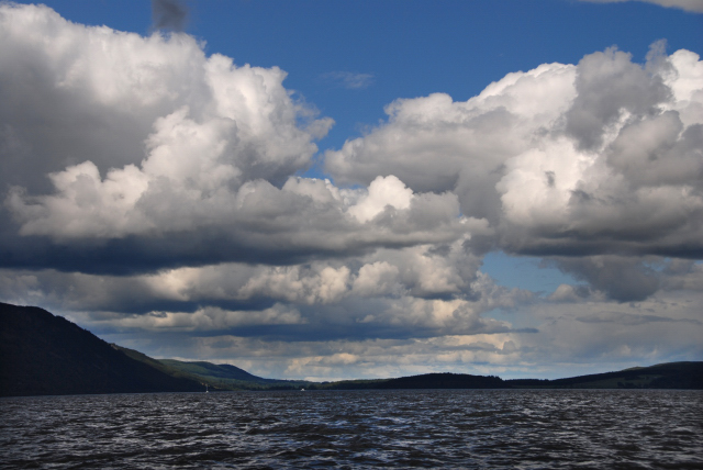 A big sky over Loch Ness