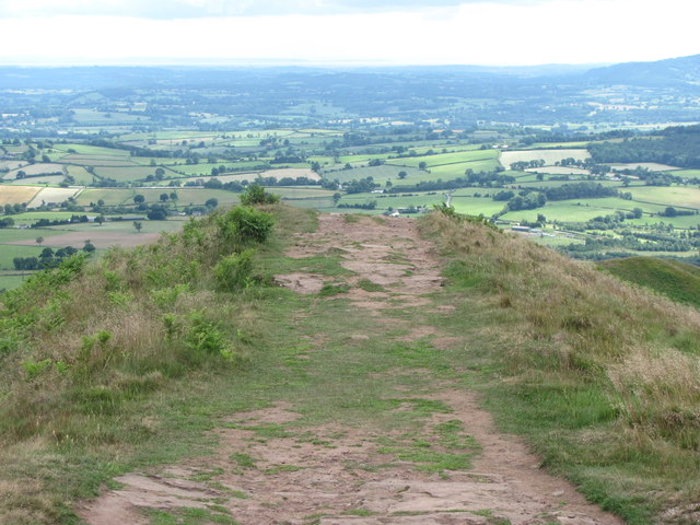 Southern end of the Skirrid summit ridge