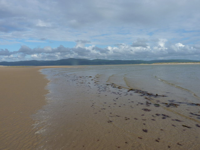 Incoming tide on Aberdovey beach