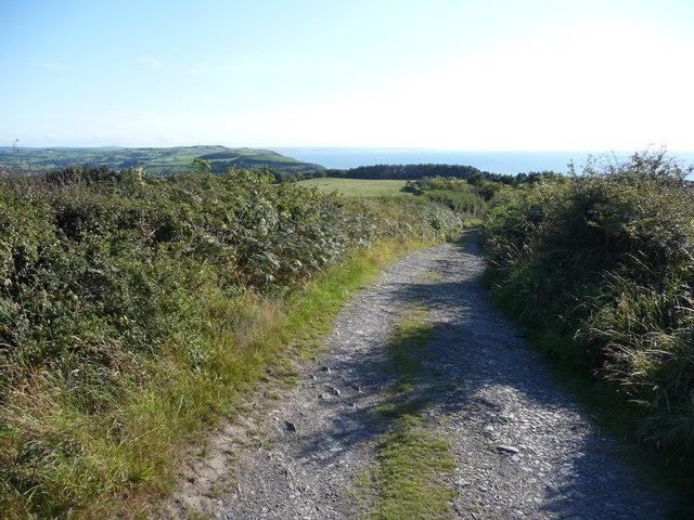 Track high above the Ceredigion coast