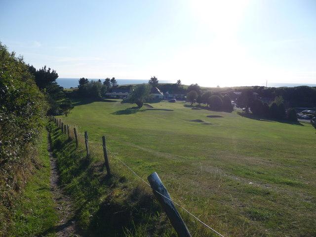 Footpath alongside Aberystwyth Golf Club