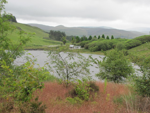 View over Llywernog Pond