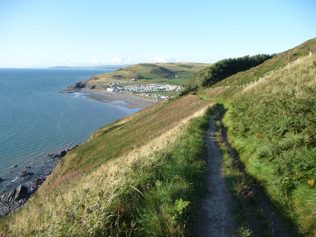 The coast path above Clarach Bay