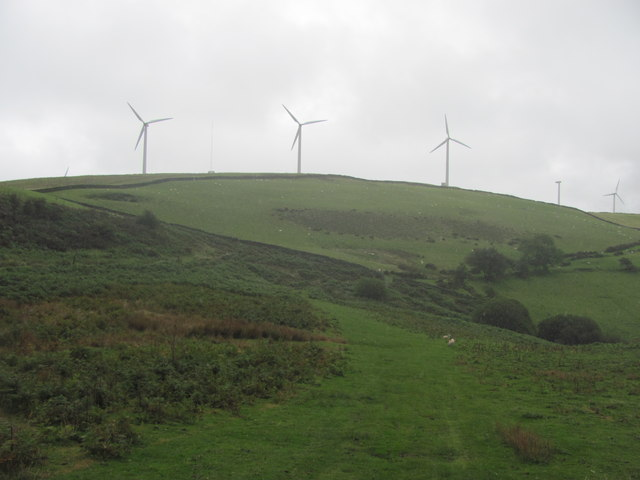 Wind farm on Mynydd Maendy