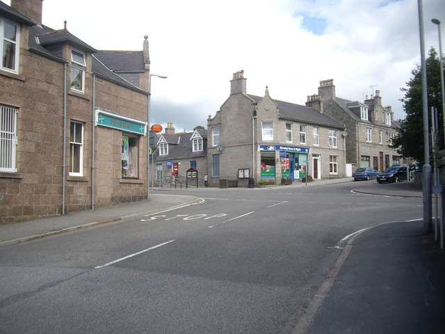 Village crossroads, Torphins