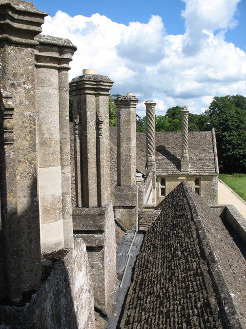 The chimneys at Lacock Abbey