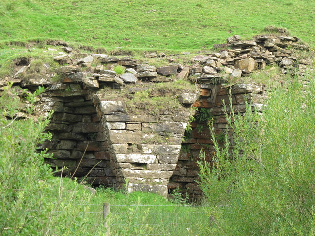 Lime kiln near Haltwhistle Burn - detail