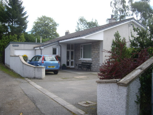 Bungalow at the top of Balvenie Road, Torphins
