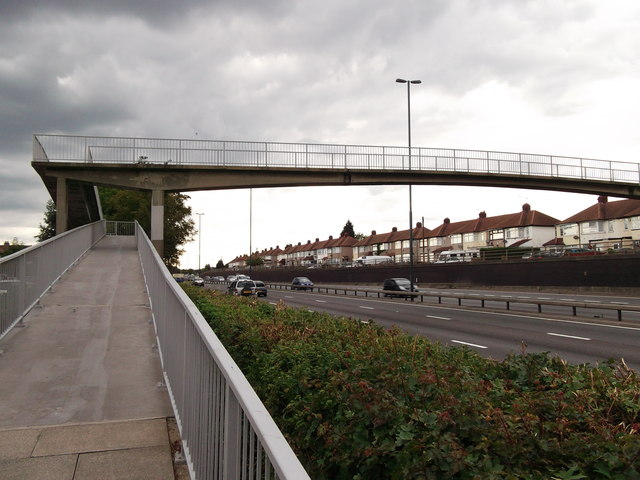 Footbridge over the A20 East Rochester Way
