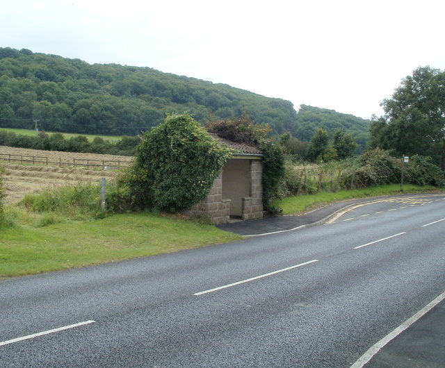 Bus shelter, Oldmixon Road west of Hutton