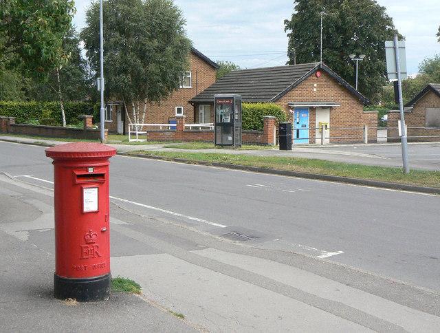 Calverton Post Office postbox (ref. NG14 350)