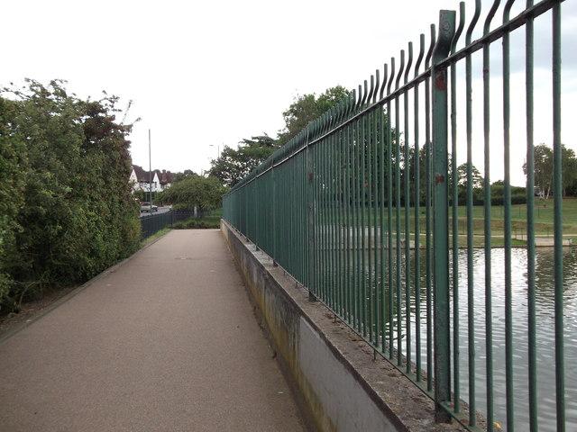 Path beside Danson Park lake