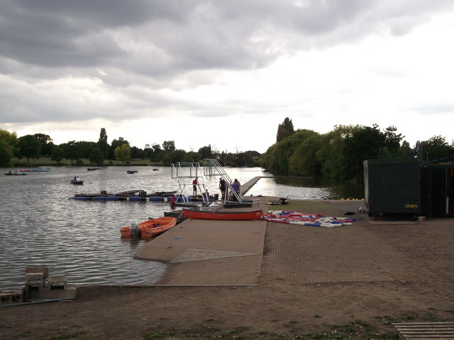 Landing Jetty on Danson Park Lake