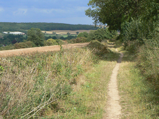 Bridleway along the ridge
