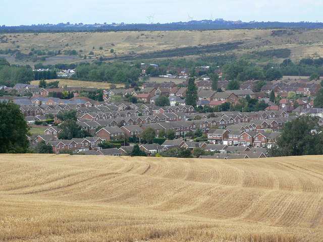 Calverton, the western sector, from near Fox Wood