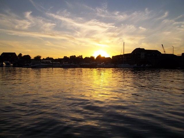 Sunset over St Denys
