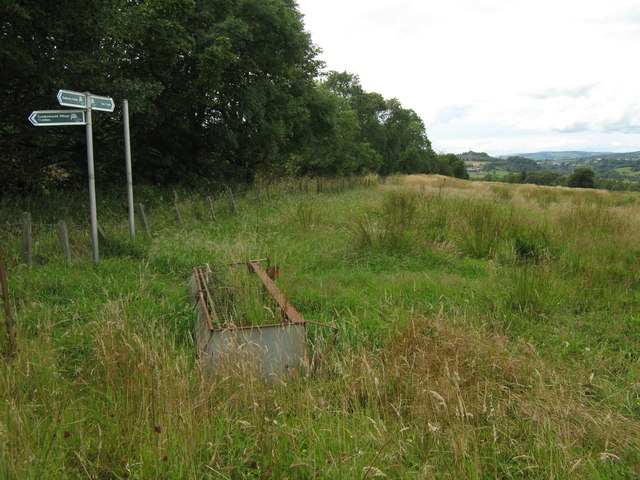 Signpost at Westerwood Farm