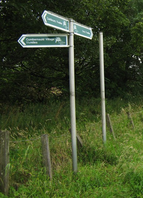 Signpost at Westerwood Farm