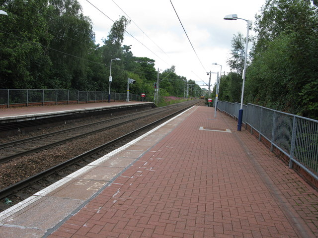 Coatdyke railway station, looking North-West