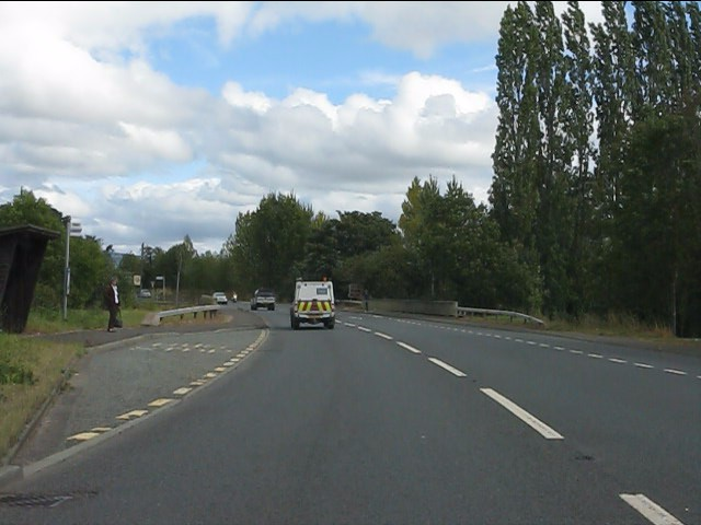 A49 at the River Onny bridge, Bromfield