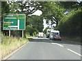 SO4977 : A49 approaching the B4365 junction by Peter Whatley