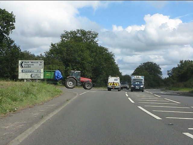 A49 at the turning for Much Wenlock