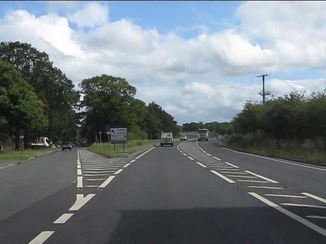 B4361 leaves the A49 north of Ludlow