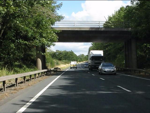 A49 - lane overbridge north of Ludlow