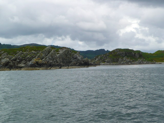 Carradale Point from the sea