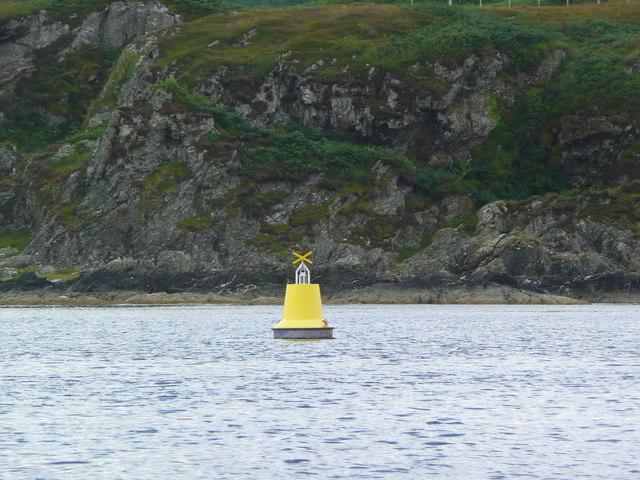 Yellow isolated mark near Port Righ