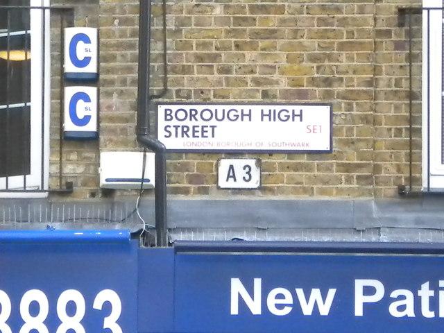 Street sign, Borough High Street SE1