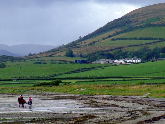 Horse riders at Ettrick Bay
