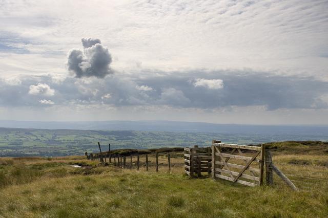 Kissing gate on Saddle Fell