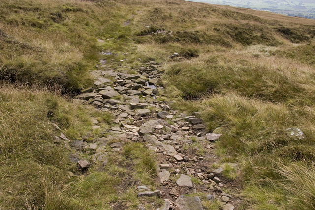 Moorland Track crossing Greenlough Clough