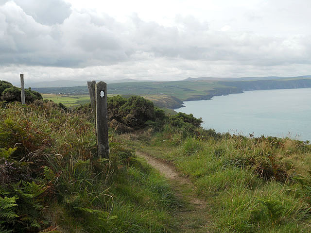 Way marker on the Pembroke Coastal Footpath