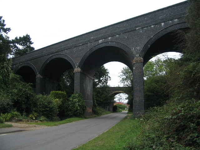 A pair of viaducts