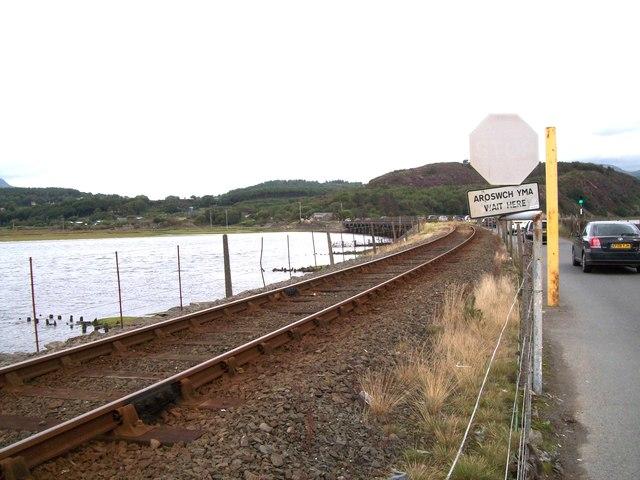 The toll bridge over Afon Dwyryd