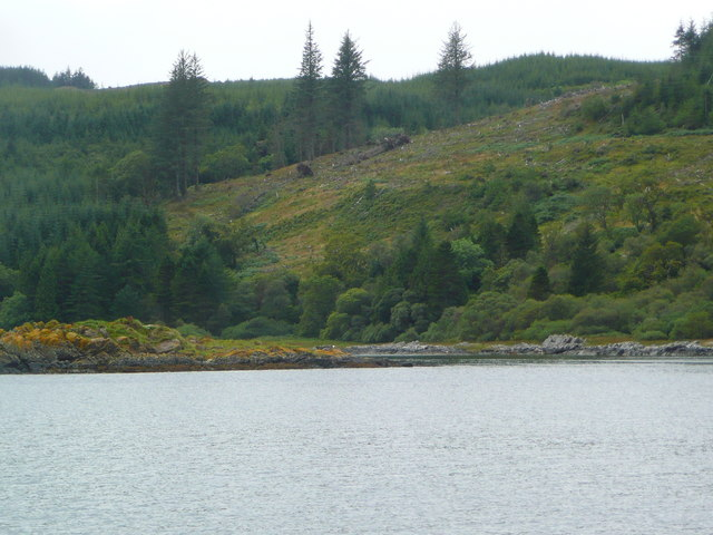 The north side of Eilean Grianain