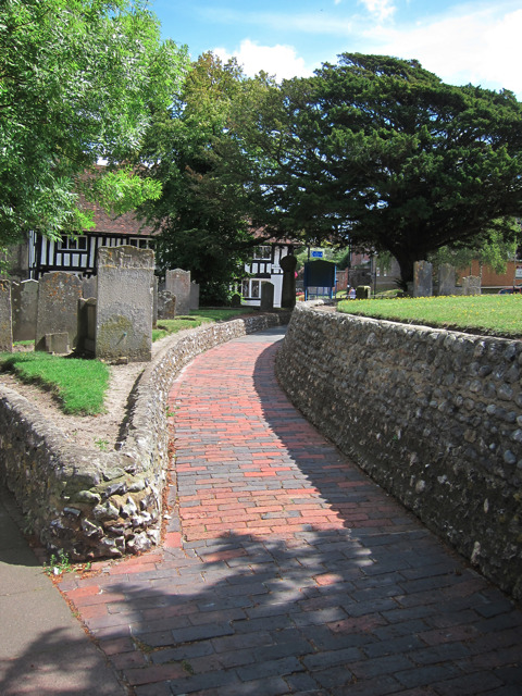 Path through St Marys Church grounds