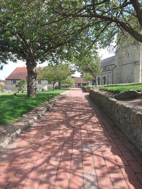 Path through St Marys Church grounds