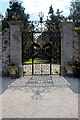O2116 : Delicate Iron Gate, Powerscourt, County Wicklow, Ireland by Christine Matthews