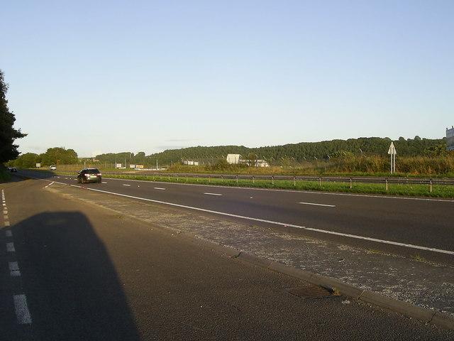 A40 Dual Carriageway near Llanllwch