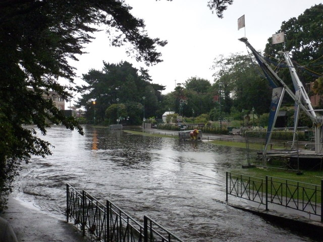 Bournemouth: flooding in the Lower Gardens