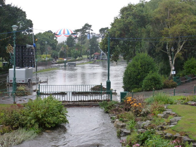 Bournemouth: Lower Gardens closed due to flooding